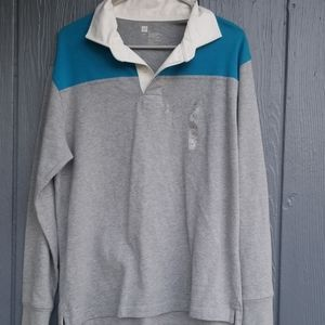 Gap long sleev polo small